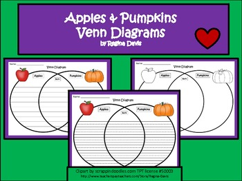 A+ Apples & Pumpkins Venn Diagram...Compare and Contrast