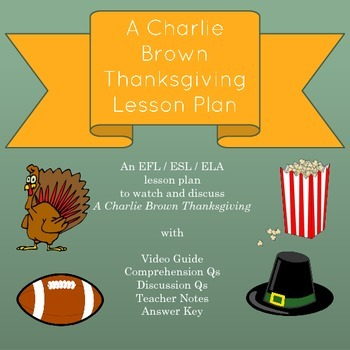 A Charlie Brown Thanksgiving Lesson Plan