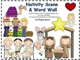 A+ Christmas Nativity Scene and Word Wall