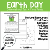 A Close Read- Earth Day (recycling, natural resources, worms)