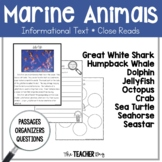 A Close Read- Marine Animals