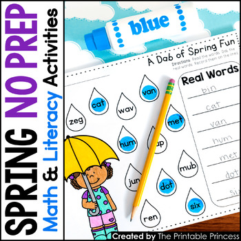 A Dab of Learning {Literacy & Math Bingo Dabber Activity Pages for Spring}