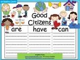 A+  Good Citizens... Three Graphic Organizers
