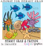 A House For Hermit Crab & Friends Sea Ocean Animal Clip Ar