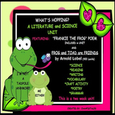 POETRY/ LANGUAGE ARTS/ SCIENCE/ FRANKIE the FROG/FROG and