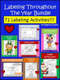 A+  Labeling Throughout The Year: Bundle Pack