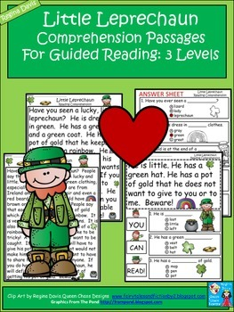 A+ Leprechaun Comprehension: Differentiated Instruction  F