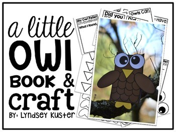 A Little Owl Craft and Book {FREE!}
