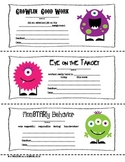 FREEBIE: Monster Themed Parent-Teacher Notes