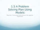 A Problem Solving Plan Using Models