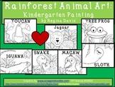 A+  Rainforest Animal Art: Kindergarten Painting