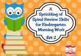 A Sprinkling of Spiral Review Morning Work Set 2
