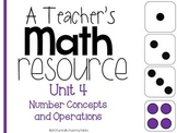 A Teacher's Math Resource Unit 4 Number Concepts and Operations