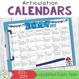 A Year of Articulation Calendars