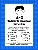 A to Z Pre-K Curriculum for Homeschool (Great for Daycare)