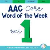 AAC Core Word of the Week: Set 1