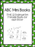 ABC Alphabet Mini Books - PreK K Printables