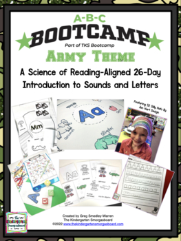 ABC BOOTCAMP!  An Editable 26 Day Introduction To Letters And Sounds!