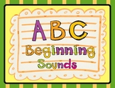 ABC Beginning Sounds Cut and Paste / RTI Work