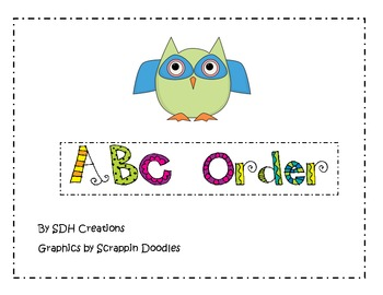 ABC Order Cards & Recording Sheet