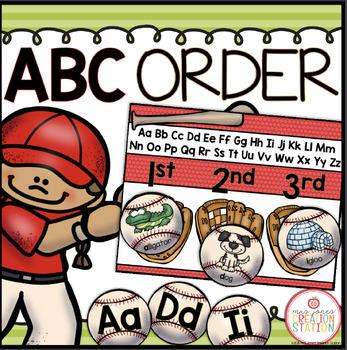 ABC Order {Keywords} Literacy Center
