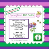 ABC Order for Springtime