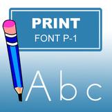 ABC Print Font