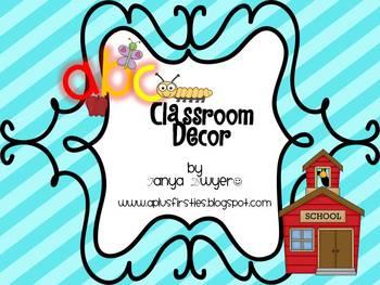 ABC Rainbow Stripes Classroom Decor