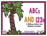 ABC's And 123's!  A Glittery Common Core Aligned Letters A