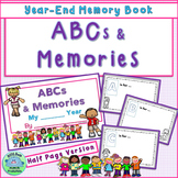 ABC's & Memories End of Year Memory Book Half-Page Version