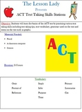 ACT Test Taking Skills Centers
