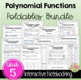 Polynomial Functions and Equations FOLDABLES (Unit 5) Bundle