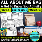 ALL ABOUT ME BAG PROJECT Back to School Ideas / Writing Activity