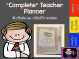 """COMPLETE"" Teacher Planner includes a print and go and an"