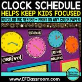 ANALOG CLOCK SCHEDULE DISPLAY PACKET-BLACKLINE DESIGN (clo