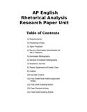 AP English Rhetorical Analysis Research Paper Unit