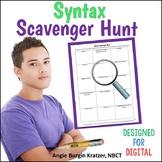 AP English Syntax Scavenger Hunt