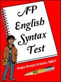 AP English Syntax Test