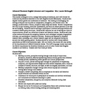 AP Literature Course Description and Syllabus