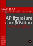 AP Literature and Composition College Board authorized syl