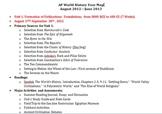 AP World History Syllabus and Year Map