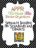 Editable APPR TED Binder Dividers (Teacher Evaluation Deve