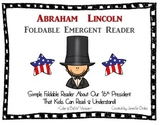 Abraham Lincoln Foldable Emergent Reader ~Color & B&W~ PLU