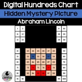 Abraham Lincoln Hundreds Chart Hidden Picture Activity for