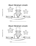 Abraham Lincoln mini book/reader for President's Day