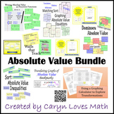 Absolute Value Bundle~8 Activities~Differentiation~Equatio