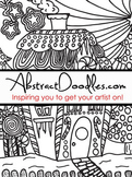 AbstractDoodles Christmas -5 pages to Color