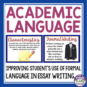 formal language in writing essays