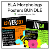 ELA Posters & Notebook Templates (Academic Morphology Bundle)