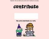 Academic Vocabulary SMART file Contribute